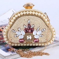 Attractive Imitation Pearl Clutches/Satchel