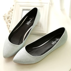 Women's Microfiber Leather Flat Heel Flats Closed Toe shoes (086163220)