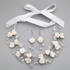 Flower Shaped Alloy With Crystal Ladies' Jewelry Sets