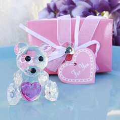 Choice Crystal Collection Teddy Bear Figurines(pink)
