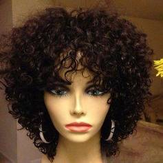 5A Virgin/remy Loose Wavy Human Hair Lace Front Wigs 200g
