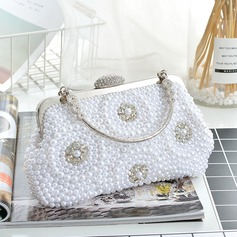 Elegant Resin/Imitation Pearl Clutches/Top Handle Bags