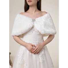 Faux Fur Wedding Shawl (013224111)