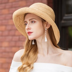 Ladies' Handmade Raffia Straw Straw Hat (196163129)
