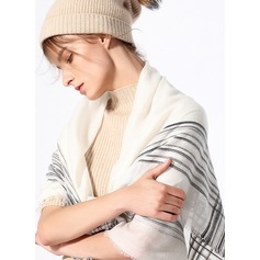 Striped Oversized/simple/Cold weather Cashmere Square scarf