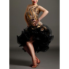 Women's Dancewear Velvet Latin Dance Dresses (115091519)