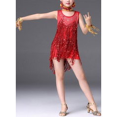 Kids' Dancewear Spandex Latin Dance Dresses (115168393)