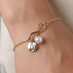 Elegant Alloy/Imitation Pearls Initial Bracelets Bracelets For Bridesmaid (011205829)