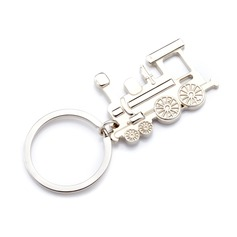 Personalized Locomotive Shaped Stainless Steel Keychains