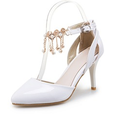 Women's PU Stiletto Heel Sandals Pumps With Chain shoes