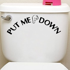PUT ME DOWN gesture toilet stickers (Sold in a single piece)