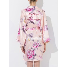 Bride Bridesmaid Silk Floral Robes