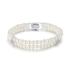 Elegant Imitation Pearls With Pearl/Cubic Zirconia/Imitation Pearls Ladies' Bracelets