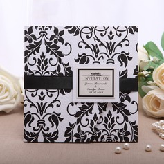 Personalized Floral Style Wrap & Pocket Invitation Cards  (114054989)