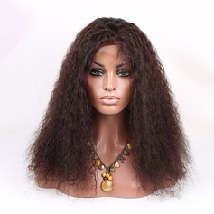 5A Virgin/remy Kinky Curly Human Hair Lace Front Wigs 180g