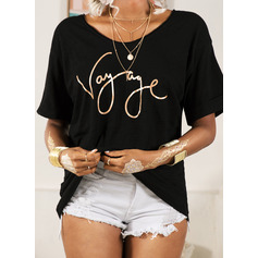 Regular Fitted Figure Print Casual Short Sleeves (1003256745)