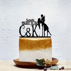 Personalized Classic Couple/Sweet Love Acrylic Cake Topper (Sold in a single piece)