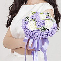 Sweet Hand-tied Ribbon/Poly Ethylene Bridal Bouquets -