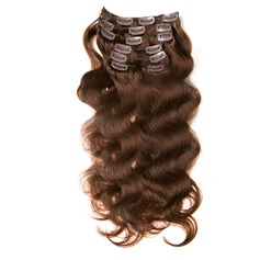 4A Non remy Body Human Hair Clip in Hair Extensions 7pcs 100g (235152032)