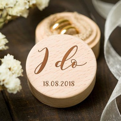 """I do""/Personalized/Romantic/Woodland Wood Ring Box"