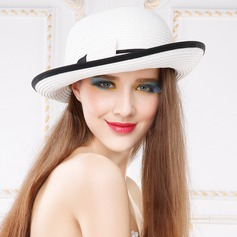 Ladies' Beautiful Summer Papyrus With Bowknot Straw Hat