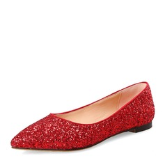 Women's Sparkling Glitter Flat Heel Flats Closed Toe With Sparkling Glitter Others shoes (086153770)
