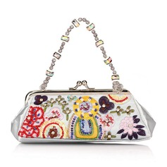 Refined Embroidery Clutches