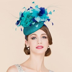 Ladies' Charming Cambric With Silk Flower Fascinators