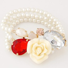 Beautiful Alloy Resin With Imitation Pearl Ladies' Fashion Bracelets