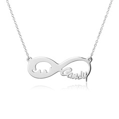 Personalized Ladies' Eternal Love Name Necklaces For Bride/For Bridesmaid/For Mother/For Friends/For Couple