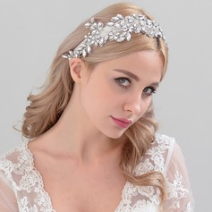 Ladies Unique Satin Headbands With Rhinestone (Sold in single piece)