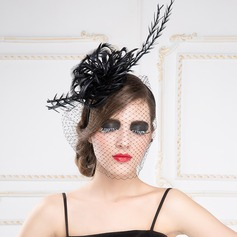 Beau Fil net/Feather/Batiste Chapeaux de type fascinator