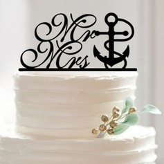 Mr. & Mrs. Acrylic Cake Topper (Set of 2)