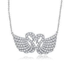 "Swan Shaped Copper/Zircon/""AAA"" Level Zircon Women's/Ladies' Necklaces"