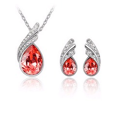 Gorgeous Alloy/Crystal Ladies' Jewelry Sets