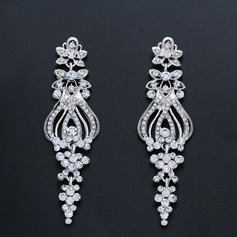 Elegant Alloy/Zircon Ladies' Earrings