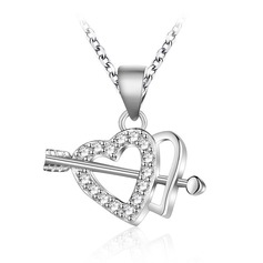 Classic Zircon Silver With Zircon Ladies' Fashion Necklace (Sold in a single piece)