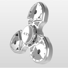 Personalized Stainless Steel/Zinc Alloy Fidget Hand Tri-Spinner Anxiety & Stress Relief Toy   (051122276)