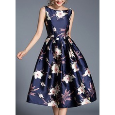 Polyester With Print Midi Dress (199134301)