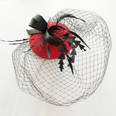 Ladies' Fashion Fabric With Tulle Fascinators