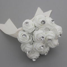 Round Cotton Bridesmaid Bouquets (Sold in a single piece) -