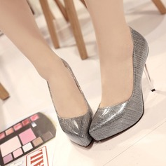 Women's Patent Leather Stiletto Heel Pumps With Sparkling Glitter shoes