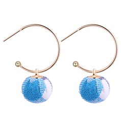 Fashional Copper Cloth Women's Fashion Earrings (Set of 2)