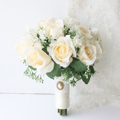 Special Round Satin Bridal Bouquets/Bridesmaid Bouquets (Sold in a single piece) - Bridal Bouquets
