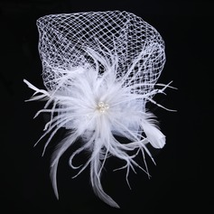 Ladies Beautiful Net Yarn/Feather Hairpins