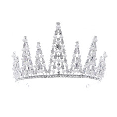 Ladies Beautiful Rhinestone/Alloy/Imitation Pearls Tiaras With Rhinestone (Sold in single piece)