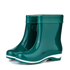 Women's PVC Low Heel Closed Toe Boots Ankle Boots Rain Boots With Buckle shoes (088127031)