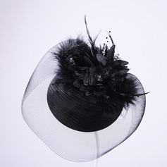 Ladies Elegant Feather/Tulle Forehead Jewelry