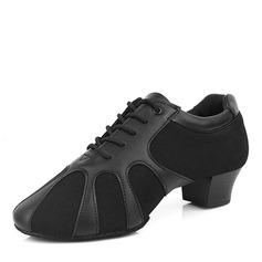 Men's Real Leather Heels Latin Dance Shoes