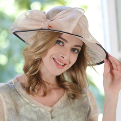 Ladies' Eye-catching/Nice Cambric With Bowknot Beach/Sun Hats/Tea Party Hats